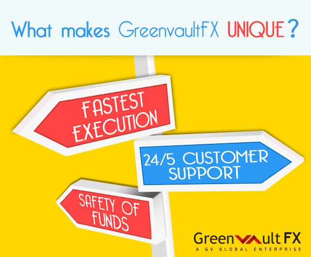 Why #trade with Greenvault #FX and what makes it unique?  1) Fastest Execution 2) Safety of Funds 3) 24/5 Customer Support 4) #FSP Regulated 5) 60+ Payment Options