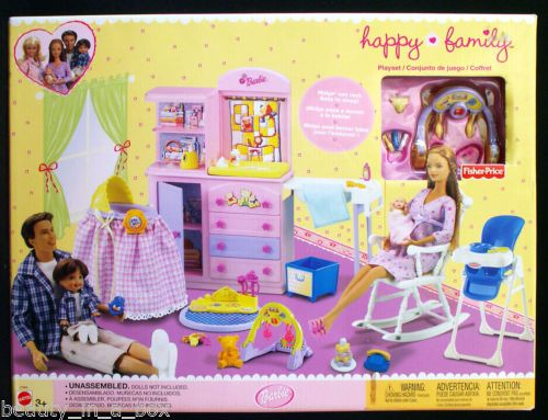 Happy family nursery playset only for barbie ken doll for Happy playsets