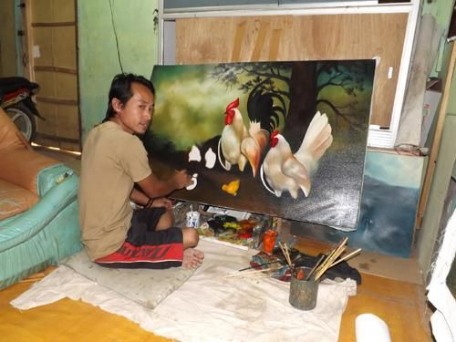 Jelekong's Painter in Action