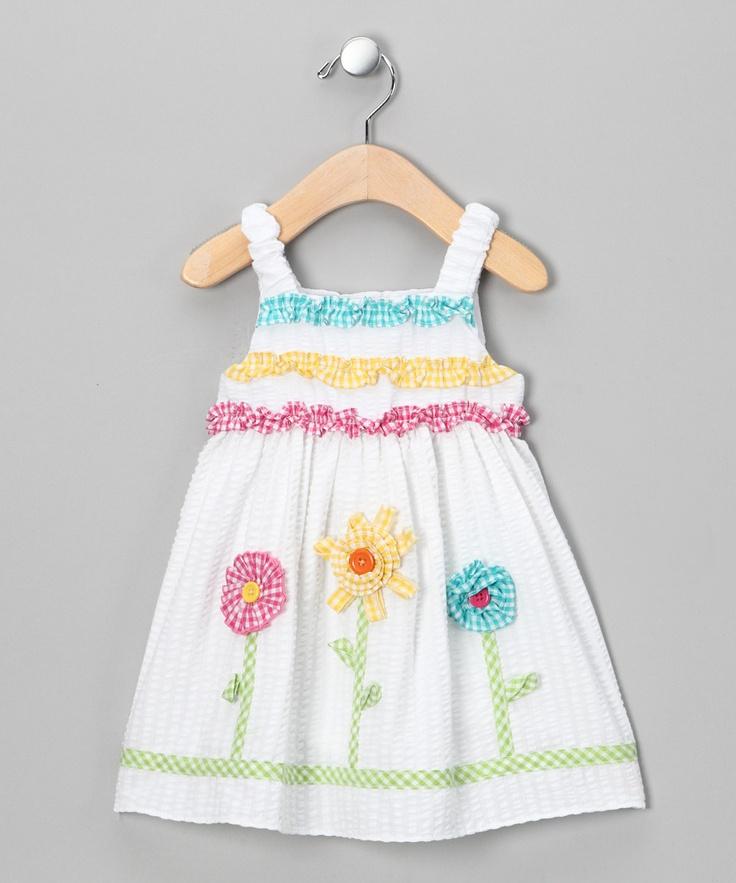 Pastel Flower Seersucker Sundress -