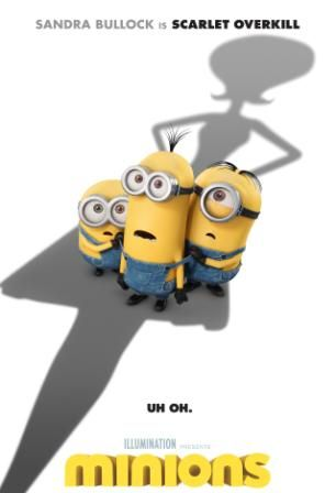Poster Of Hollywood Film Minions 2015 In 250MB Compressed Size PC Movie Free Download At worldfree4u.com