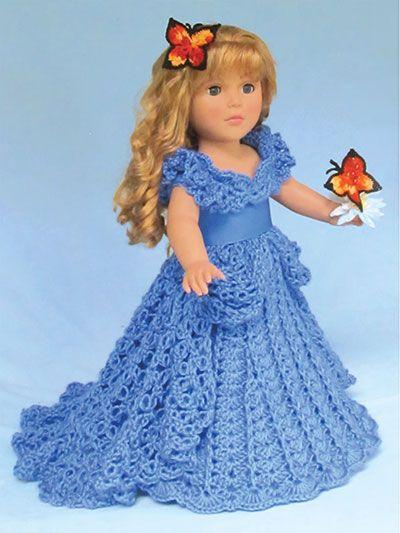 Crochet Pattern Doll Dress : 25+ best ideas about Crochet Doll Dress on Pinterest ...