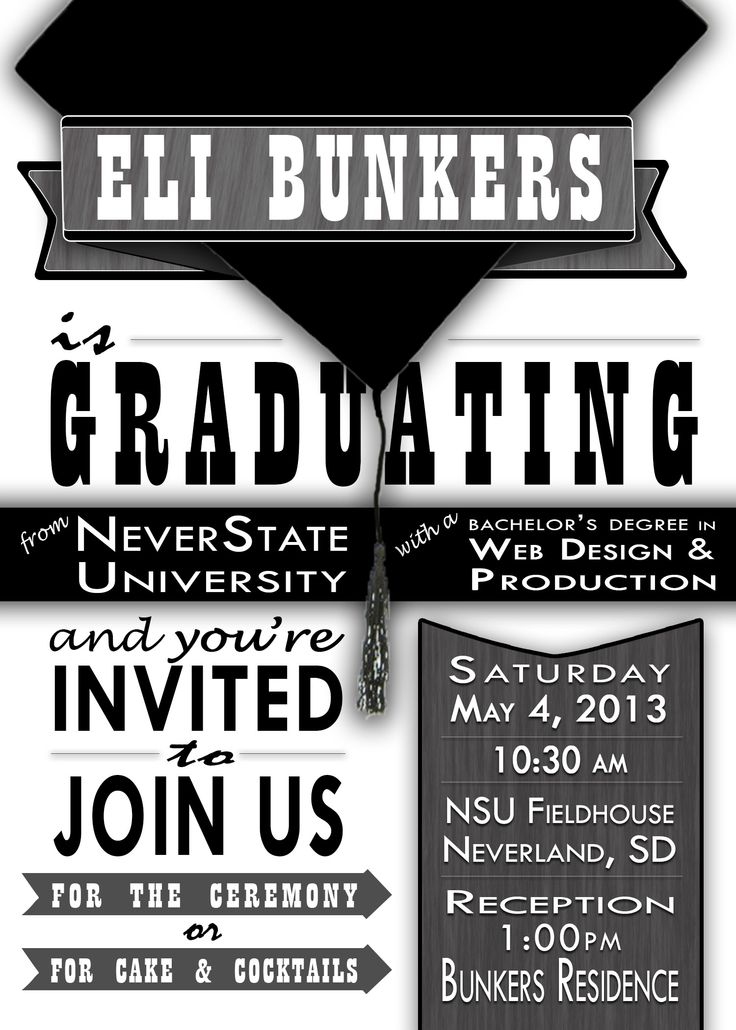 11 best Party Invitation images on Pinterest   Graduation ...