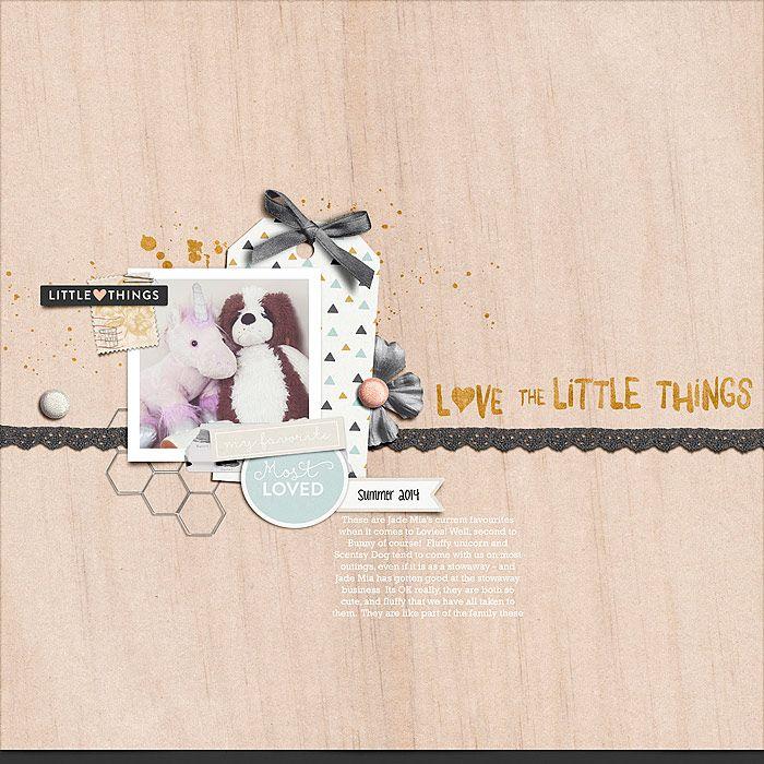 Layout by Erin | Little Things | Digital Scrapbooking Kit