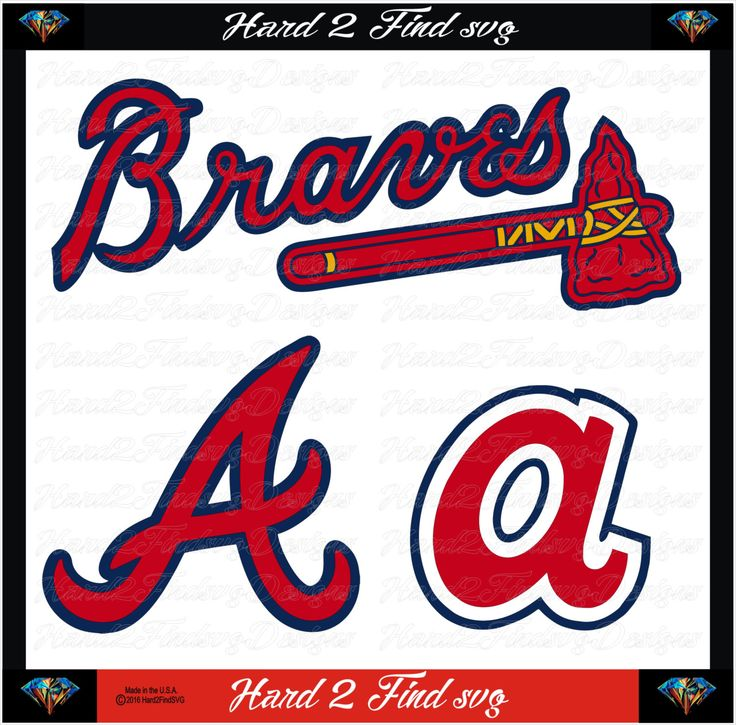 Atlanta Braves Baseball Team Sports Design Use With Silhouette Studio DXF Files SVG Files Svg Fonts Cameo and Cricut Explore by hard2findsvg