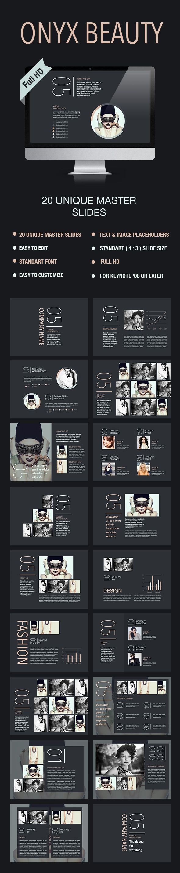 Onyx Beauty Keynote Template