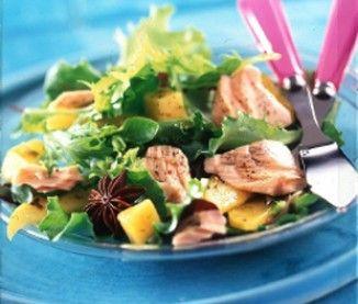 Salade exotique au saumon