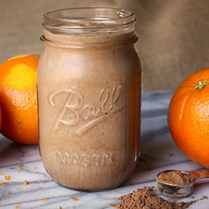 Cocoa powder makes this Cafe Latté Shakeology recipe taste like a frozen mocha drink from a coffee shop!