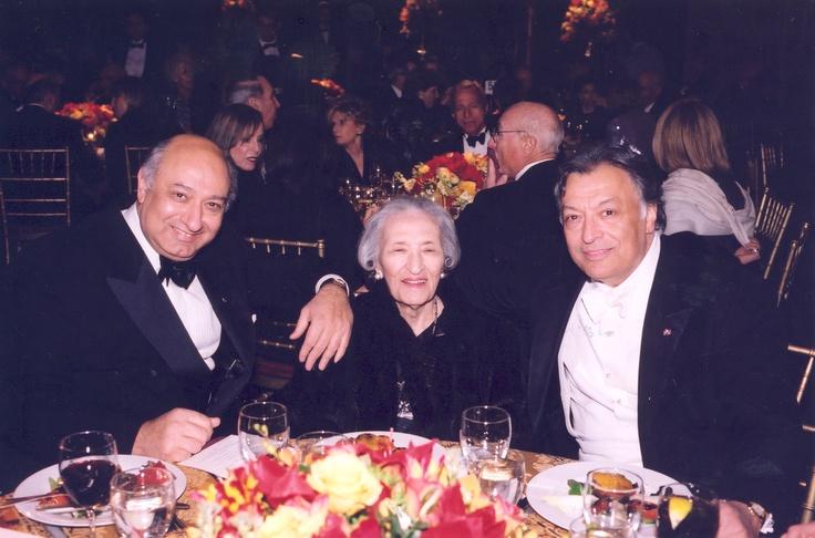 Zarin Mehta, president, and Zubin Mehta, Philharmonic Music