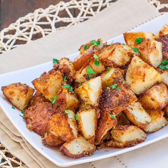 Italian Parmesan Roasted Potatoes   Jo Cooks