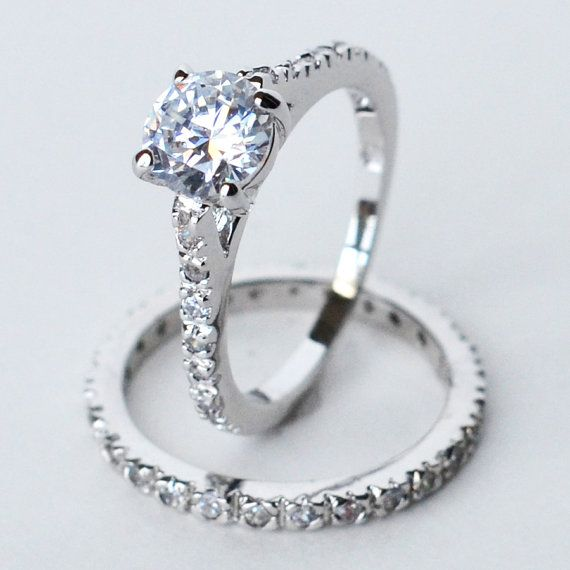 cz ring cz wedding ring cz engagement ring by MyrasCollections, $22.95