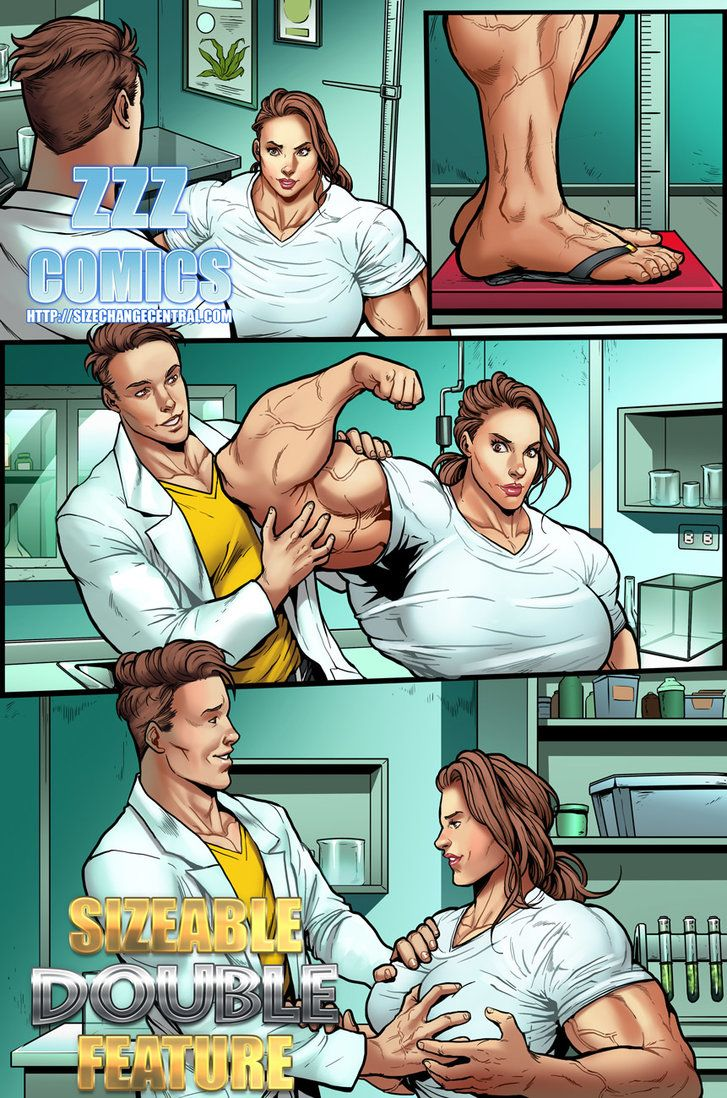Sizeable Double Feature Preview 1 By Zzzcomics Deviantart Com On Deviantart Female Muscle