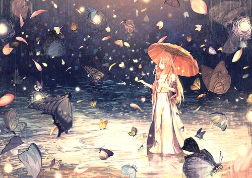 Even if it rains, you can see the magic around you #rain #butterflies