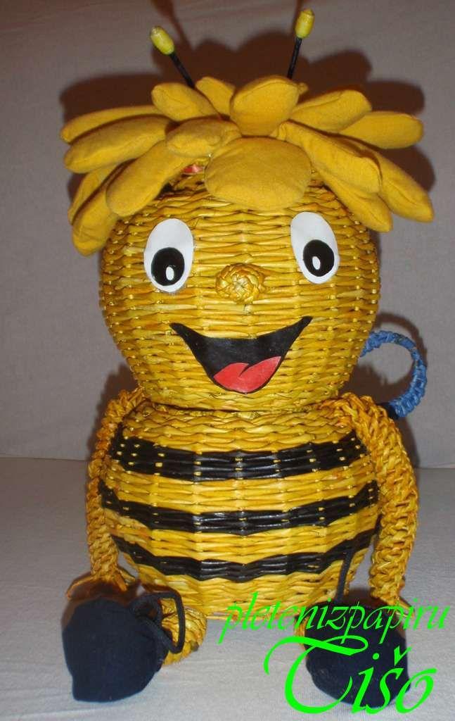 Včielka Maja | Pletení z papíru