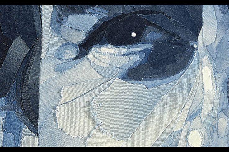 デニムで描かれたアイルトン・セナの肖像画 ( photo 2 ) | GQ JAPAN