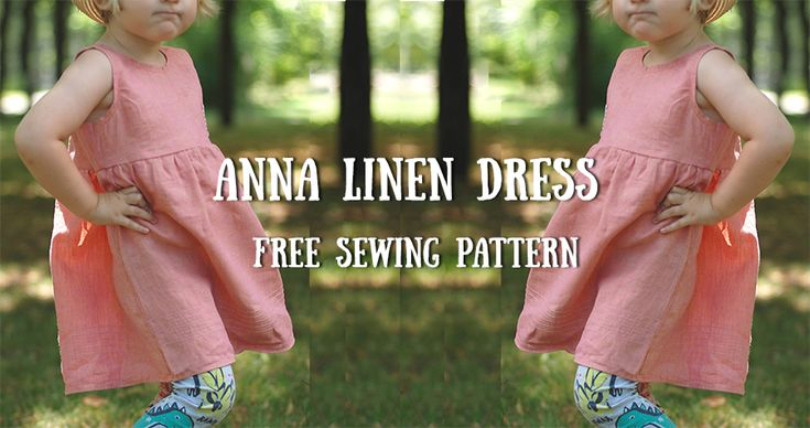 Anna Linen Dress | Free Pattern Free printable pattern of a toddler summer dress