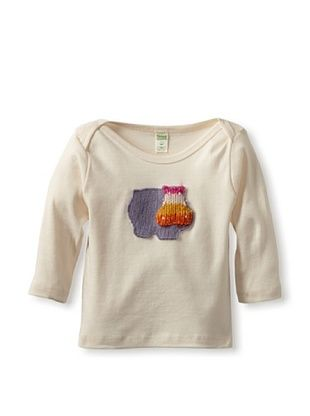 53% OFF Cate & Levi Baby Hippo Long Sleeve Lap Tee (Purple)