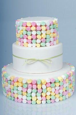Marshmallow Wedding Cakes