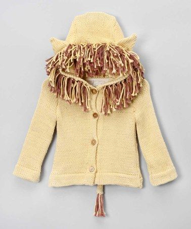 Hooded Gold Lion Sweater by Toto Knits on #zulilyUK today!