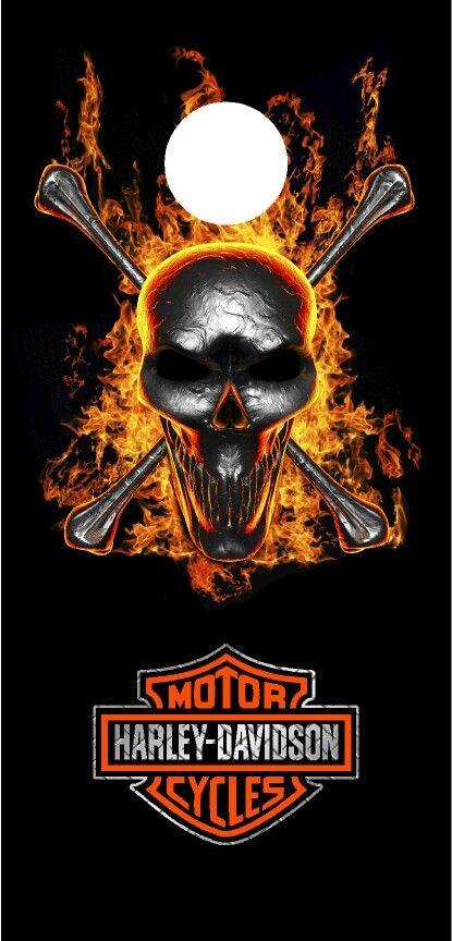 Harley Davidson Cornhole Board Wrap Like Us On Facebook