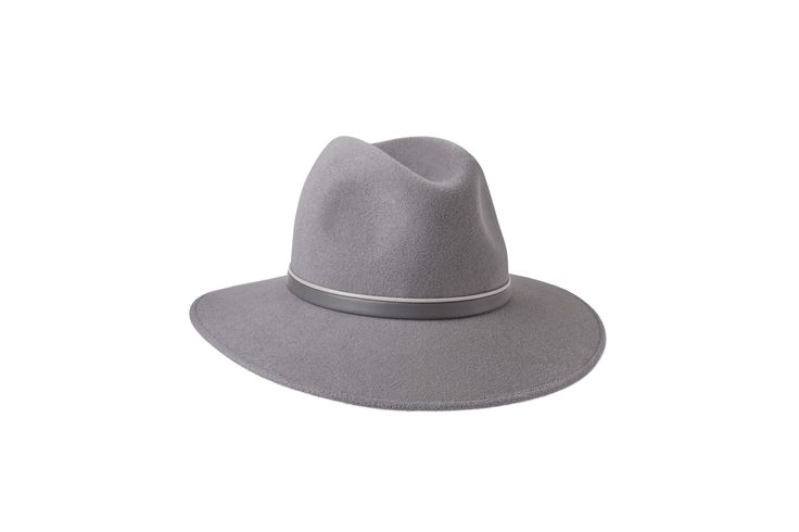 The Spring/Summer Collection | Willow Fedora | Dove Grey | Beige & Grey Leather Band www.penmayne.com #fedora #hats #accessories