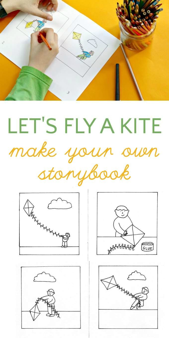 Free printable coloring pages educational - Make Your Own Kite Storybook Coloring Page Writers Notebookfree Printable