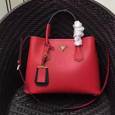 e035e56a82 Prada Saffiano Leather Double Tote Bag 1BG887
