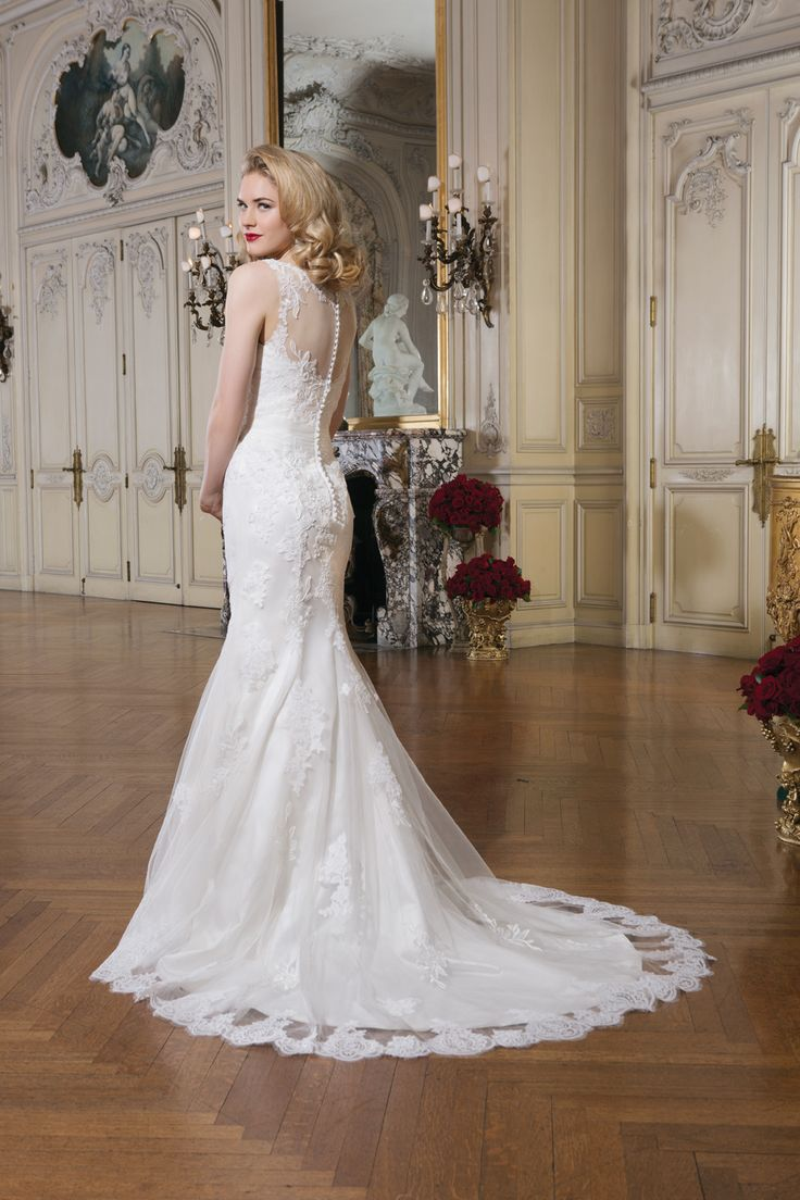17 best images about justin alexander 2015 collection with for Wedding dress bling detail