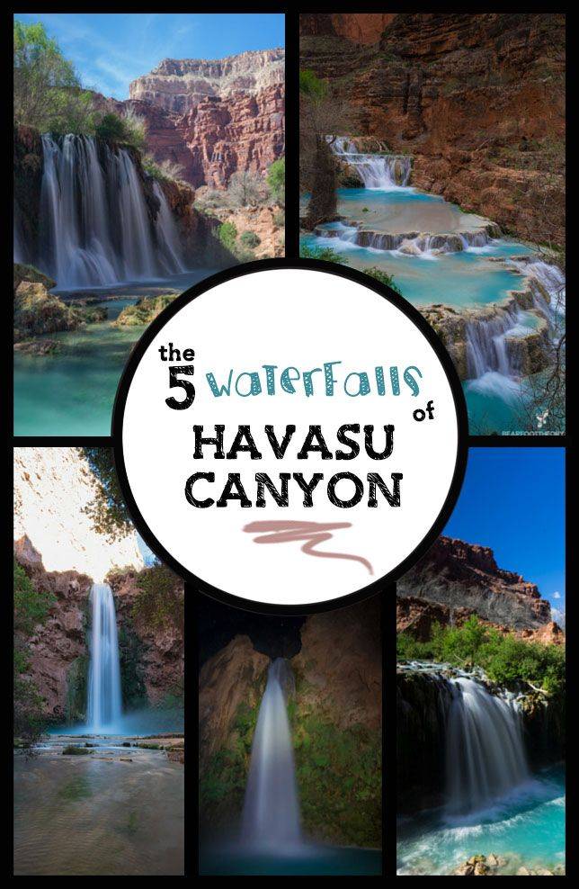 The 5 Waterfalls of Havasu Canyon on Arizona's Havasupai Indian Reservation