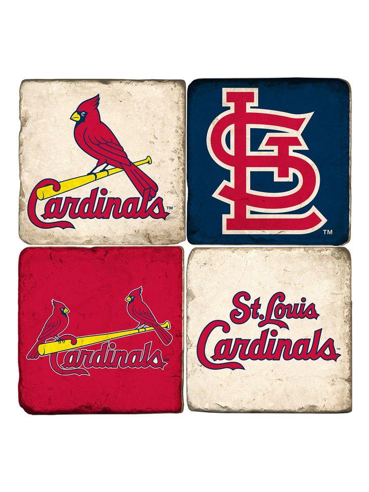 Genuine Merchandise St Louis Cardinals Coasters (Set of 4) by Studio Vertu at Gilt