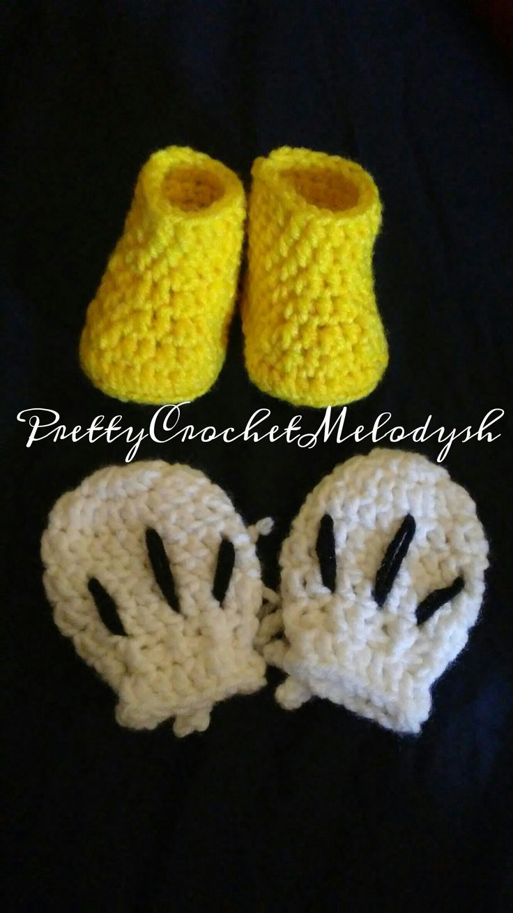 Mickey mouse boots and hands