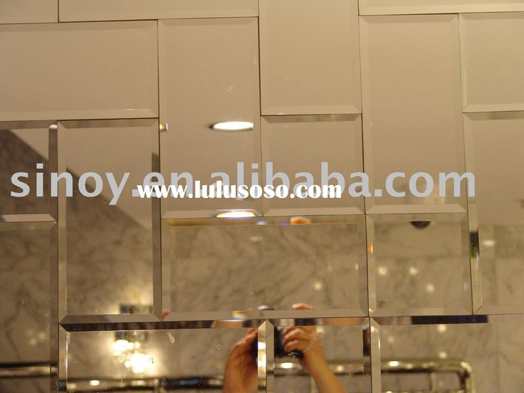 Walls with mirrors peel and stick wall mirror tiles for Bathroom self design
