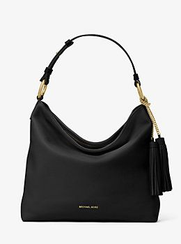 Elyse Large Leather Shoulder Bag by Michael Kors