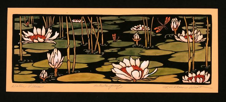 Kathleen West - block print maker; revitalization of the Arts and Crafts movement