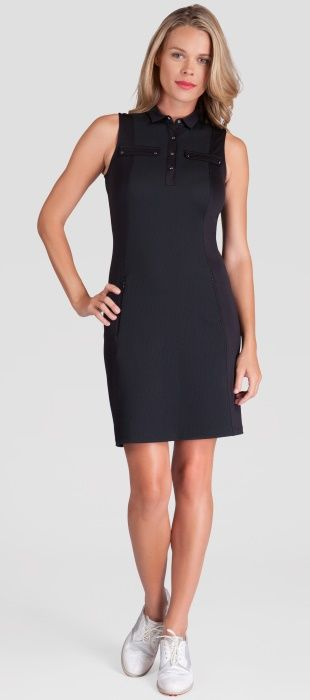 Black Tail Ladies PARISIAN CHIC Berenice Sleeveless Golf Dress at one of the top shops for ladies golf apparel!