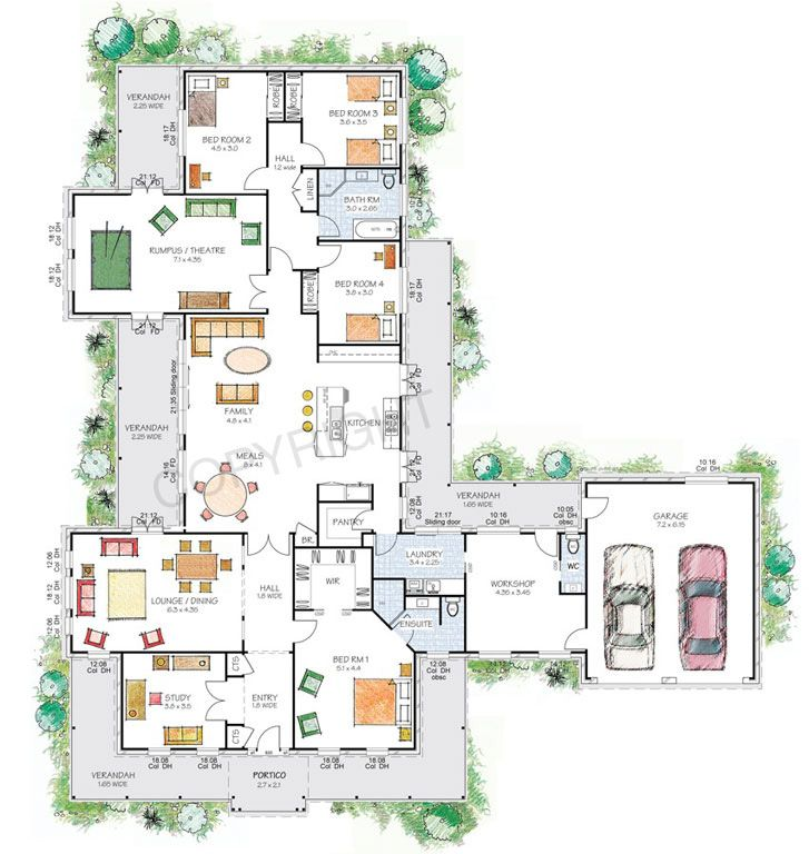 Floor Plan Friday: Victorian-style country home with workshop