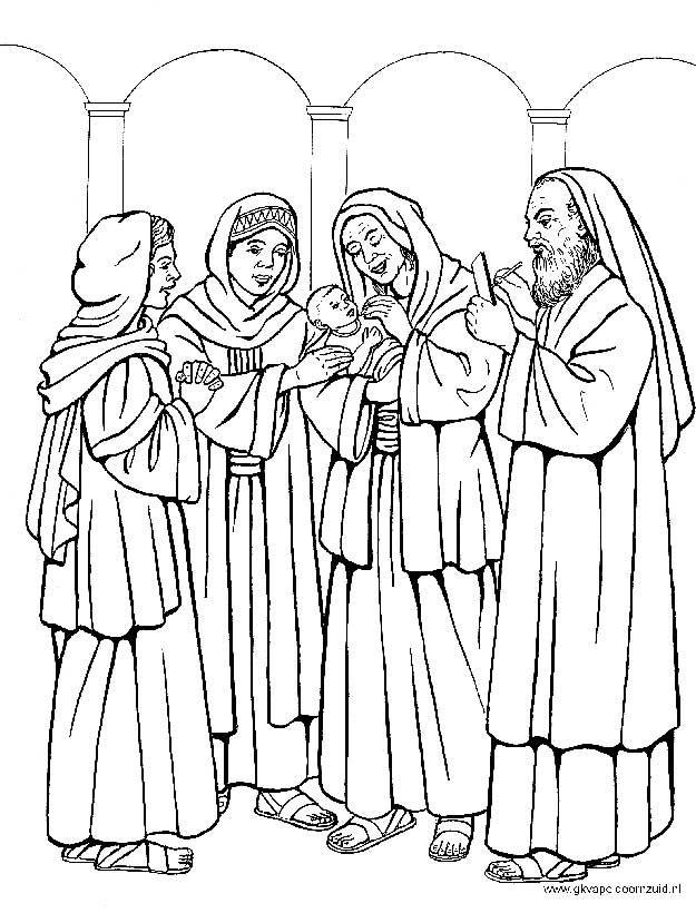Kerst kleurplaten - De geboorte van Johannes de Doper - GKV Apeldoorn-Zuid