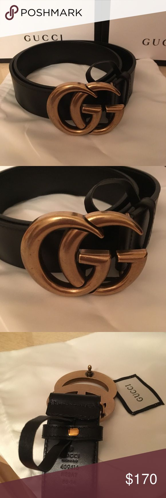 Gucci belt women's Ladies this belt is brand new and authentic . Will ship out with box and garment bag . Receipt is included !! Fits size 24-30 Gucci Accessories Belts