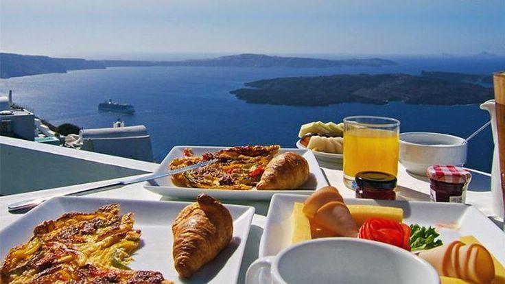 Breakfast at Santorini island, Greece  www.callgreece.gr