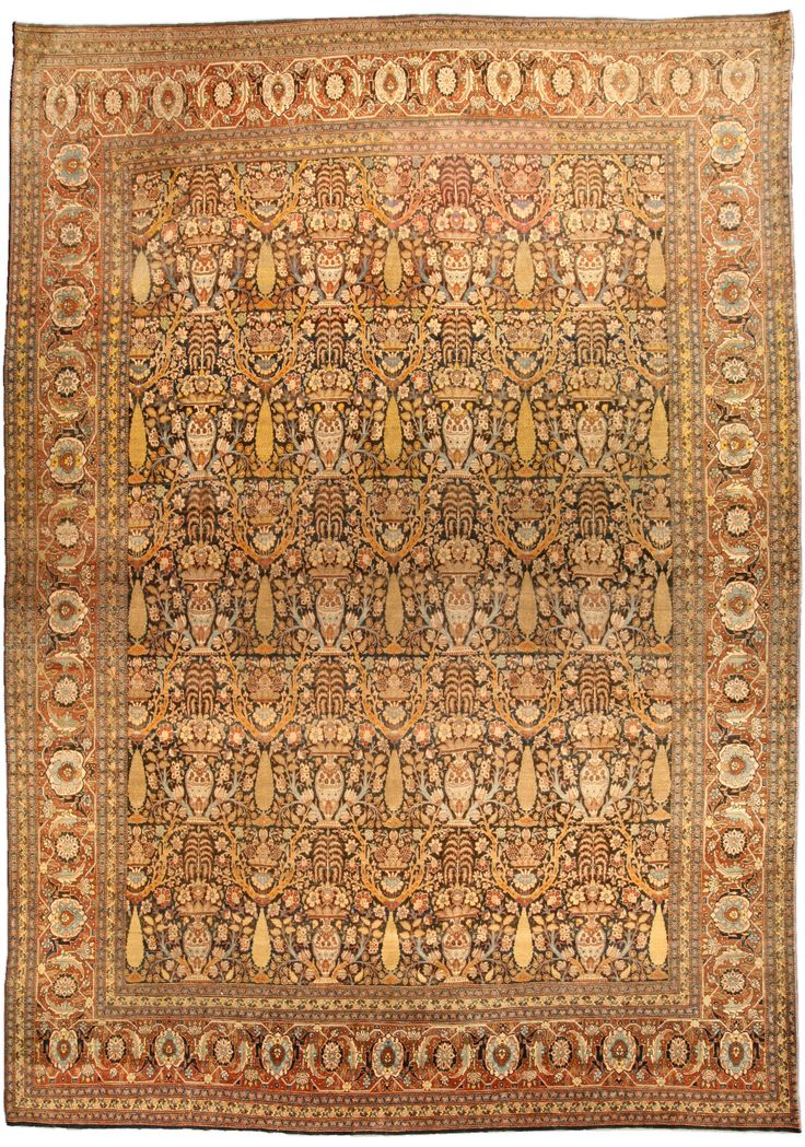 Antique Rugs Nyc Persian Rug Carpet With Fl Ornaments Interior Living Room Decor