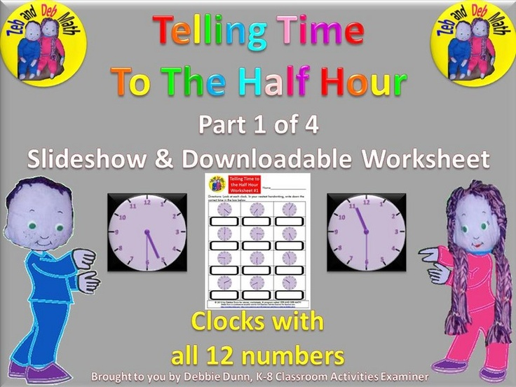 Time Worksheets : telling time worksheets nearest half hour ~ Free ...