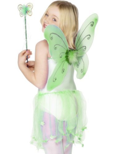 Butterfly Wings and Wand Green (29322) | Costume Accessories | Wings and Wands