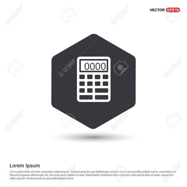 Electronic calculator icon spon electronic