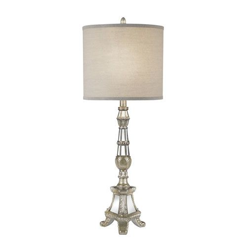 Catalina Antique Pewter Mirror One-Light LED Table Lamp