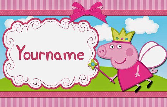 Peppa Pig Personalize Birthday Banner Customized Peppa Pig