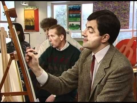 Quick Clip-----Mr Bean - Art Class---Mr Bean finds himself in an art class. He begins by drawing fruit.