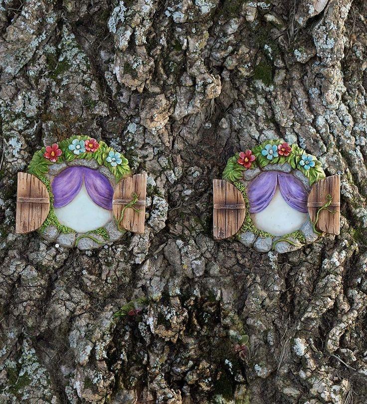 Miniature Fairy Garden pietra Windows Albero Accents, Set di 2: Amazon.it: Giardino e giardinaggio