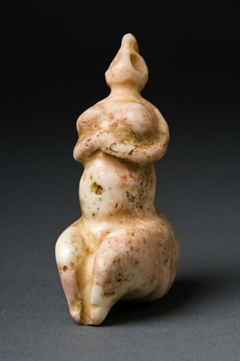 Figure: Mother goddess,  Ancient Near East.  5th millenium B.C.E.  Marble