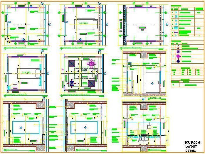 Icu Room Detail Hospital Design Building Hvac Floor Layout