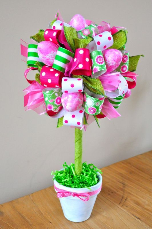 Easter Egg and Ribbon Topiary